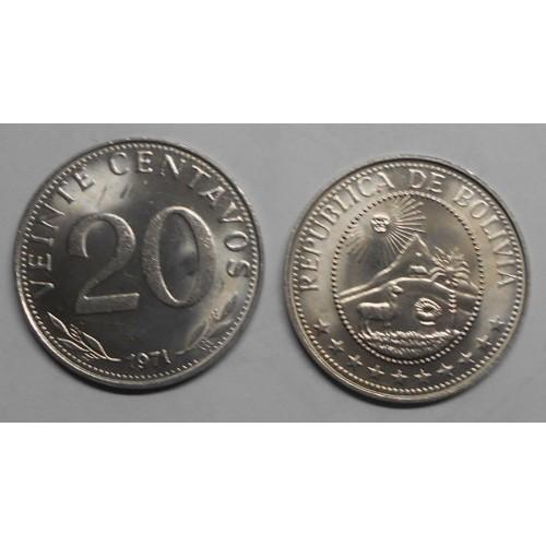 BOLIVIA 20 Centavos 1971