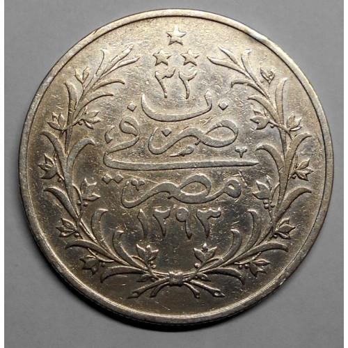 EGYPT 10 Qirsh AH 1293/32...