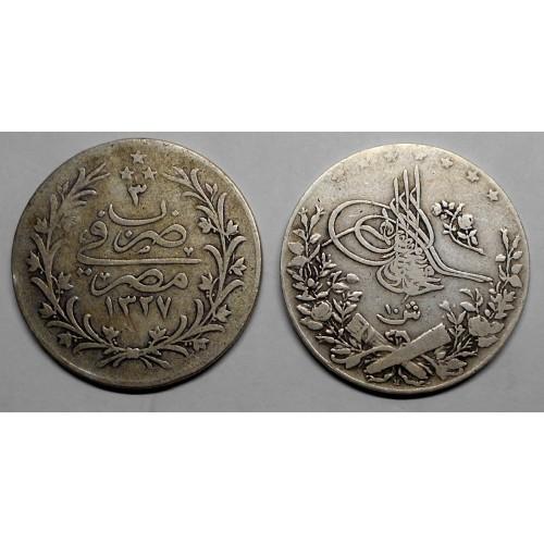 EGYPT 10 Qirsh AH 1327/3...