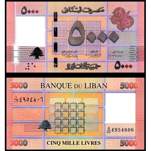 LEBANON 5000 Livres 2014