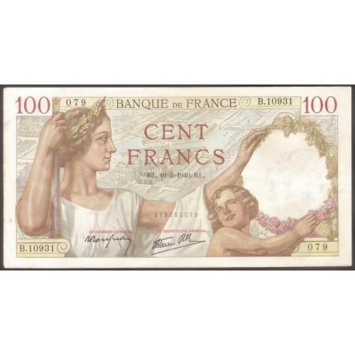 FRANCE 100 Francs 16.05.1940
