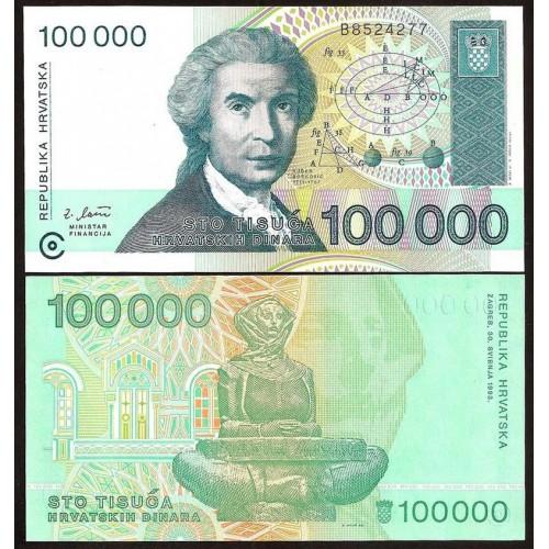 CROATIA 100.000 Dinara 1993