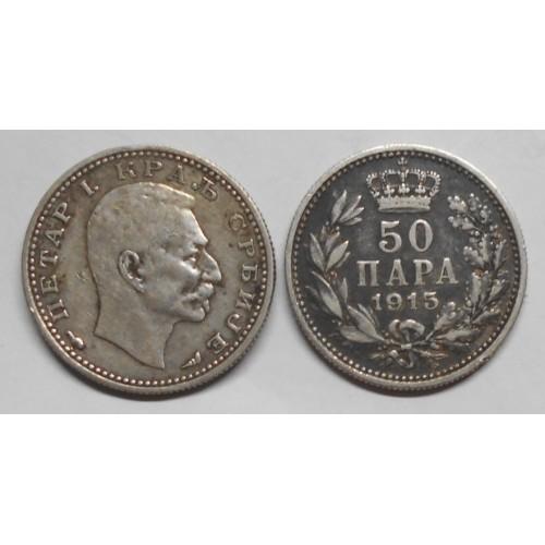 SERBIA 50 Para 1915 AG...