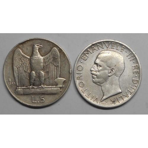 5 LIRE 1930 AG