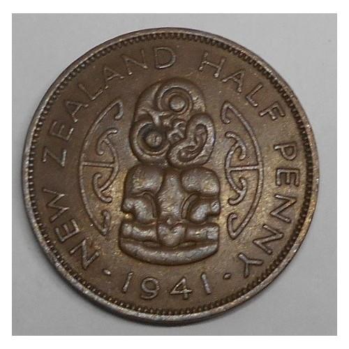 NEW ZEALAND 1/2 Penny 1941