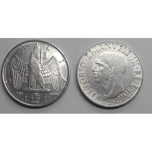 1 Lira 1940 M. vuoto di...