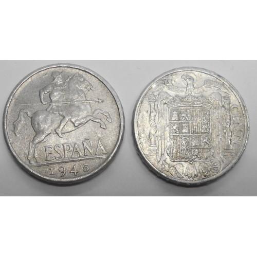 SPAIN 10 Centimos 1945