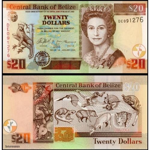BELIZE 20 Dollars 2005
