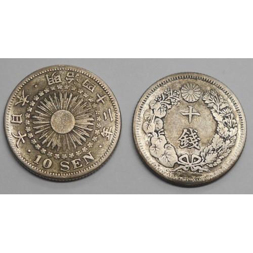 JAPAN 10 Sen 1909 AG