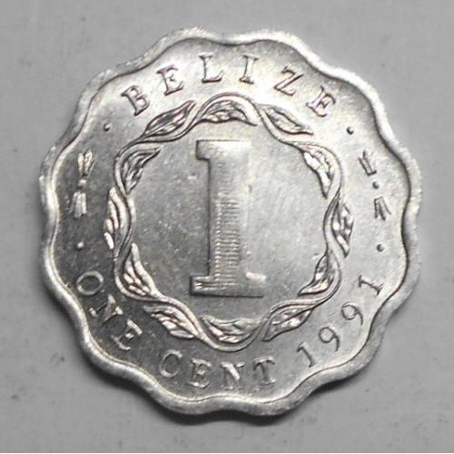 BELIZE 1 Cent 1991