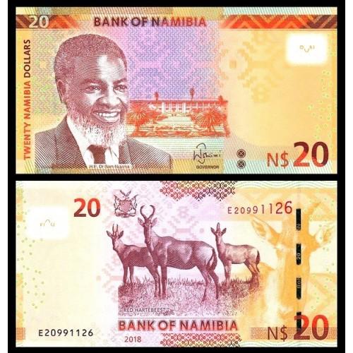 NAMIBIA 20 Dollars 2018