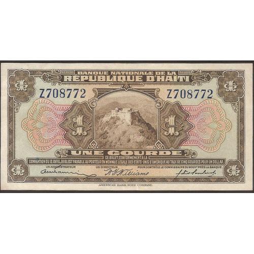 HAITI 1 Gourde 1919 Serie Z
