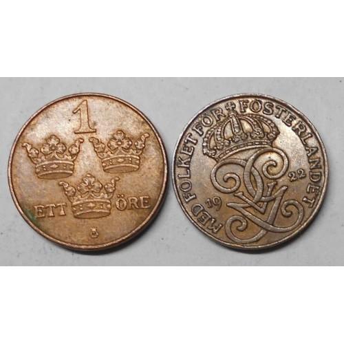 SWEDEN 1 Ore 1922
