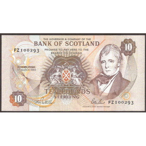 SCOTLAND 10 Pounds 1993