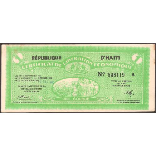 HAITI 1 Gourde 1962