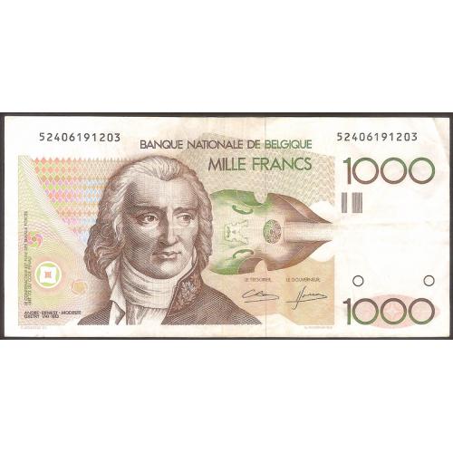 BELGIUM 1000 Francs 1980