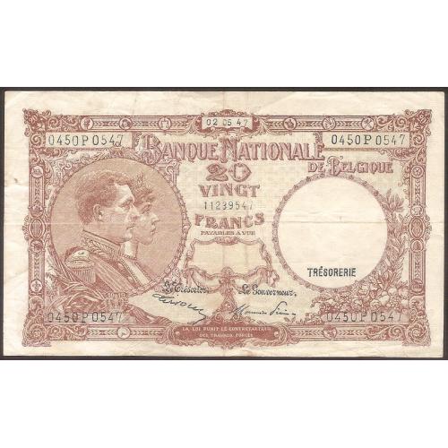 BELGIUM 20 Francs 1947