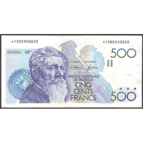 BELGIUM 500 Francs 1982