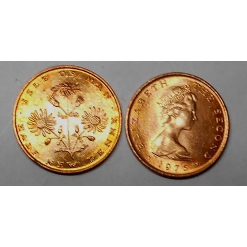 ISLE OF MAN 1/2 Penny 1975