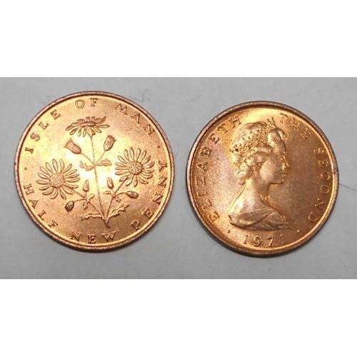 ISLE OF MAN 1/2 Penny 1971