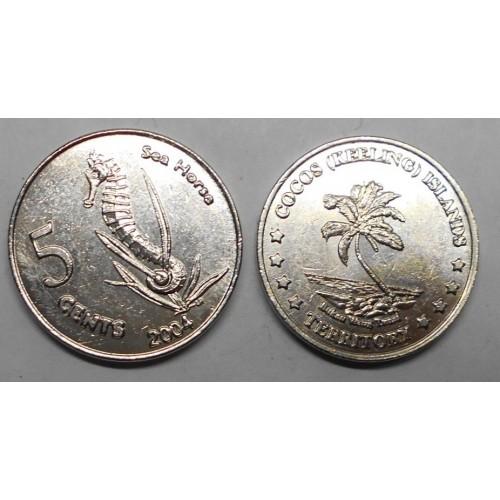 COCOS ISLANDS 5 Cents 2004