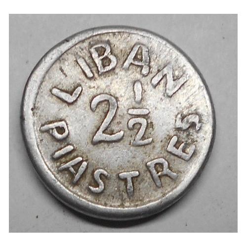 LEBANON 2 1/2 Piastres 1941