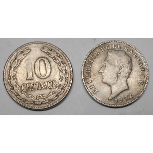 EL SALVADOR 10 Centavos 1972