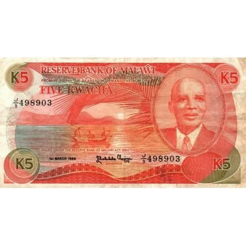 MALAWI 5 Kwacha 1986