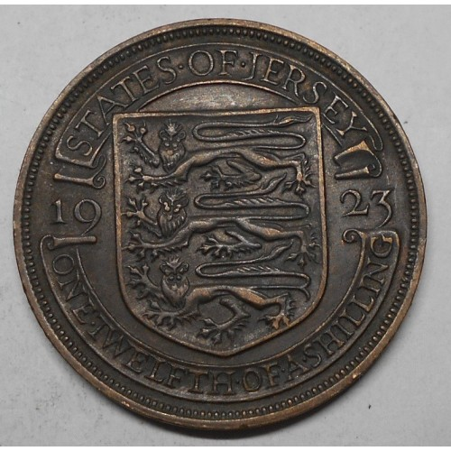 JERSEY 1/12 Shilling 1923...