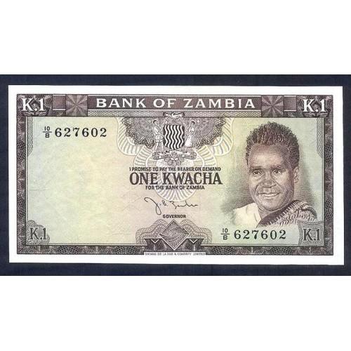 ZAMBIA 1 Kwacha 1968