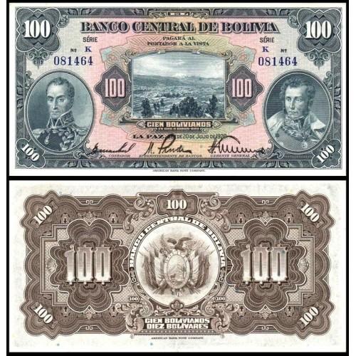BOLIVIA 100 Bolivianos 1928