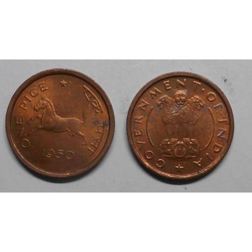 INDIA 1 Pice 1950 C