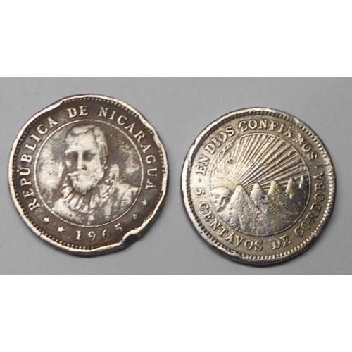 NICARAGUA 5 Centavos 1965
