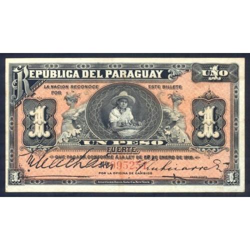PARAGUAY 1 Peso Fuerte 1916