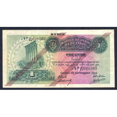 SYRIA 1 Livre 1939