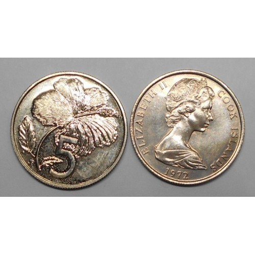 COOK ISLANDS 5 Cents 1972