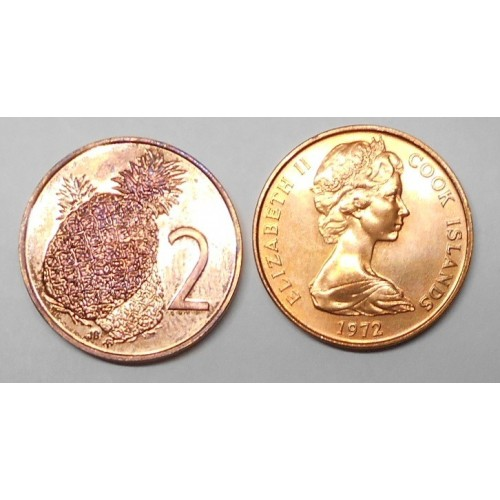 COOK ISLANDS 2 Cents 1972