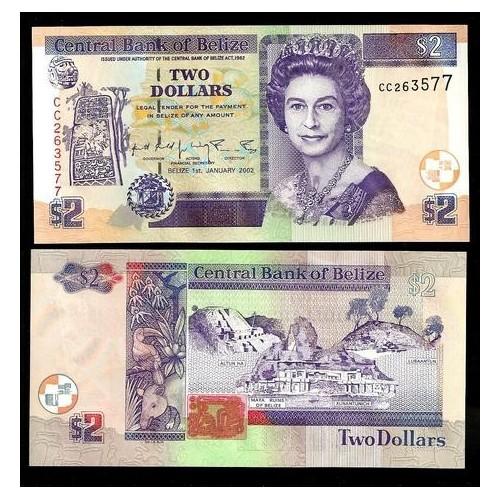 BELIZE 2 Dollars 2002