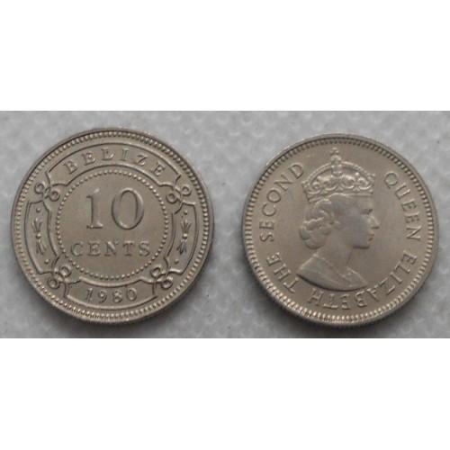 BELIZE 10 Cents 1980