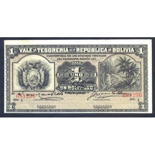 BOLIVIA 1 Boliviano 1902