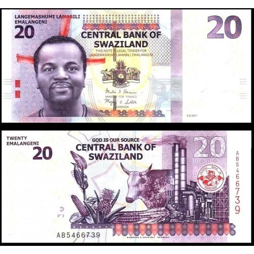 SWAZILAND 20 Emalangeni 2017