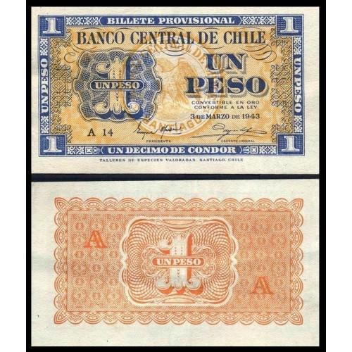 CHILE 1 Peso 1943