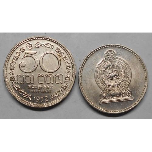 SRI LANKA 50 Cents 1972