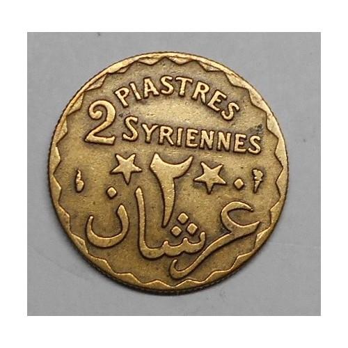 LEBANON 2 Piastres 1924