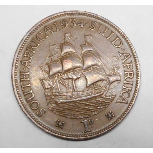 SOUTH AFRICA 1 Penny 1934
