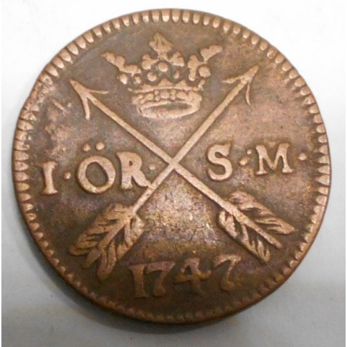 SWEDEN 1 Ore 1747 S.M.