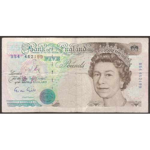 GREAT BRITAIN 5 Pounds 1990