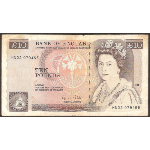 GREAT BRITAIN 10 Pounds 1988