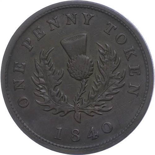 CANADA 1 Penny 1840 Token...