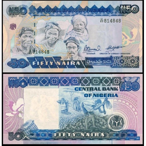 NIGERIA 50 Naira 1991